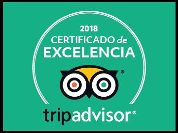 Certificado de Excelencia tripadvisor 2018 Inca's Paradise Travel Agency