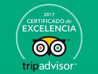 Certificado de Excelencia tripadvisor 2017 Inca's Paradise Travel Agency