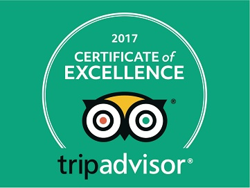 Certificate of Excellence tripadvisor 2017 Inca's Paradise Travel Agency