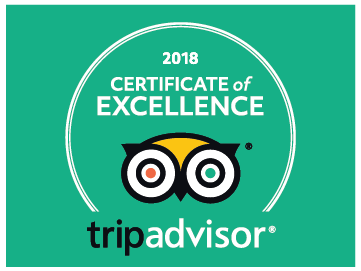 Certificate of Excellence tripadvisor 2018 Inca's Paradise Travel Agency