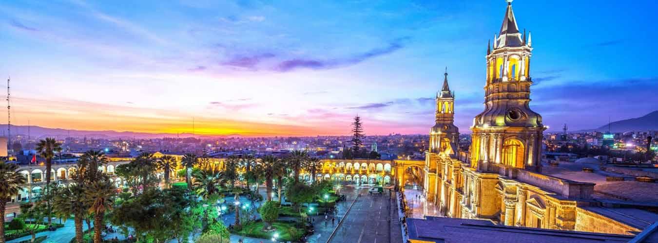 Atardecer en la Ciudad Blanca de  Arequipa