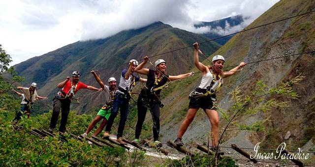 AVENTURA EN EL TOUR INCA JUNGLE TRAIL CUSCO