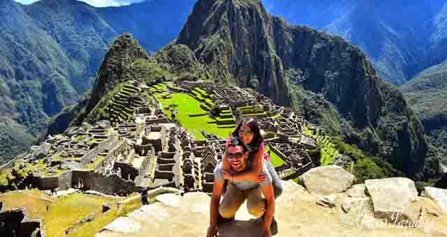 Familia en Machu Picchu Cusco