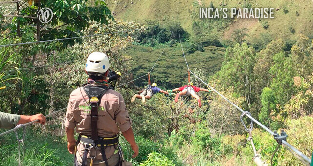 ZIP LINE EN EL TOUR INCA JUNGLE TRAIL CUSCO